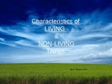 Living and Nonliving Characteristics