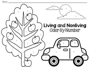 Living and Nonliving Color-By-Number