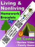 Living and Nonliving Homework Bracelets with QR Codes {Kindergarten}