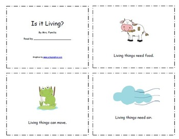 Living and Nonliving  Mini Unit