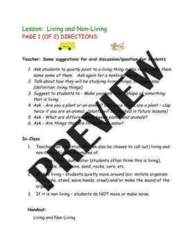 Living and Nonliving - 12 Pages - Science is Fun!  K-1st