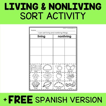 Living Things Sort Activity