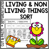 Living and Nonliving Things Sort