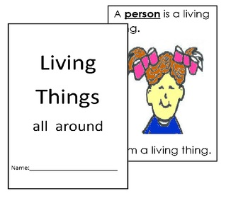 Living and Nonliving Things Activities Pack English Spanish