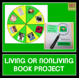 Living and Nonliving Things Self-Correcting Book with Wheel and Flaps!
