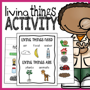 Living and Nonliving Things Sorting Activity and Poster
