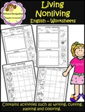Living and Nonliving / Worksheets / Activities/ English (School Designhcf)