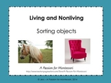 Living and Nonliving sorting activitiy Montessori cultural science