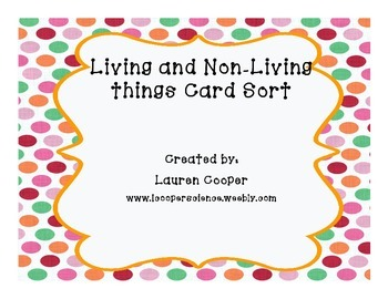 Living and Nonliving things card sort