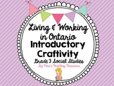 Living and Working in Ontario Craftivity