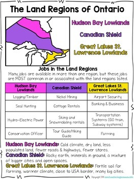 Living and Working in Ontario Extras! FREE Resources for Differentiation