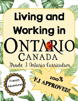 Living and Working in Ontario FRENCH BOOKLET