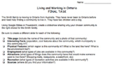 Living and Working in Ontario Summative Assignment