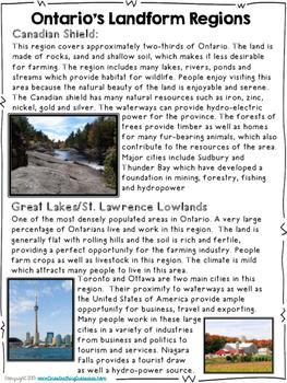 Living and Working in Ontario Unit! Grade 3 Ontario Social Studies
