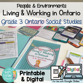 Living and Working in Ontario Grade 3 Unit & Research Resource Combo Pack!