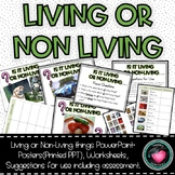 Living and non living things PowerPoint and worksheets