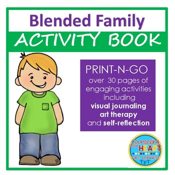Social Emotional Learning Living in a Blended Family Activity Book (Print-N-Go)