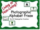 Living or Non Living Alphabet Frieze