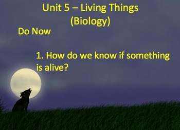 Living or Non-Living, Organisms - Lesson Presentation, Activities, Video