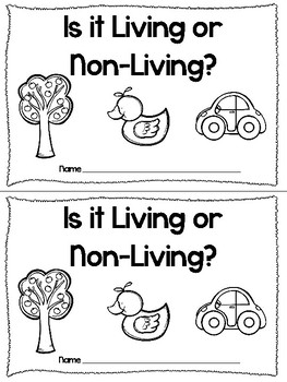 Living or Non-Living Pocket Chart and Reader