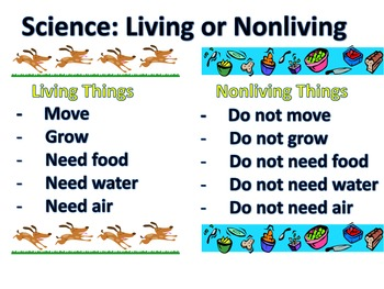 Living or Non Living Science Center or Whole Group Activit