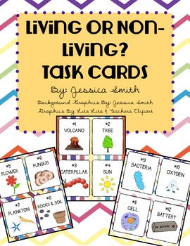 Living or Non-Living? Task Cards & Student Record Sheet
