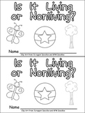 Living or Nonliving Things Emergent Reader for Kindergarten- Science