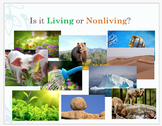 Living or Nonliving Lesson Day 1-PowerPoint and Worksheets NGSS, K-LS1-1, 5E