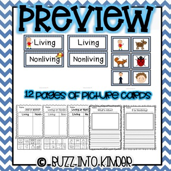 Living or Nonliving Picture Sort with Assessment Sheets