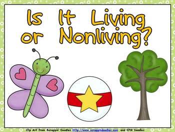 Living or Nonliving Shared Reading- Kindergarten- Science
