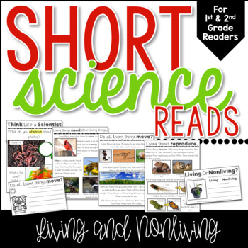Living or Nonliving Short Science Reads