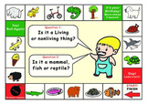 Living or Nonliving Things Game Board