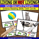 "Living or Not Living TASK CARDS ""Task Box Filler"" For Special Education"