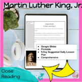 Martin Luther King, Jr. Reading Comprehension NO PREP
