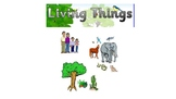 Living things PowerPoint with free worksheets