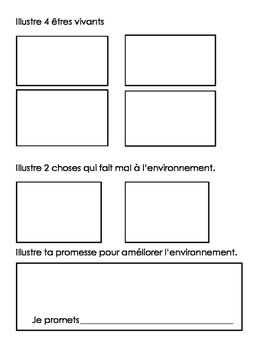 Living things handout FRENCH