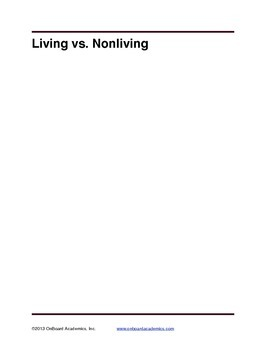 Living vs. Non Living