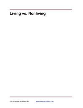 Living vs. Non Living