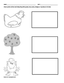 Living vs. Non-Living 3 Worksheet assessment of tiered learning