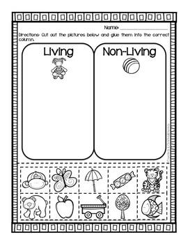Living vs. Nonliving Sort Worksheet | Science Ideas | Pinterest ...