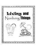 Living vs. Non-Living Things File Folder Game (ENGLISH and SPANISH)