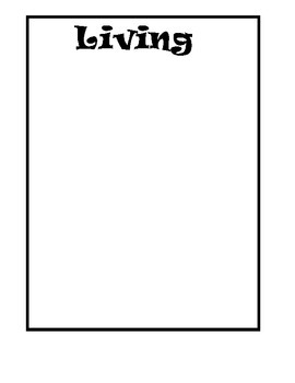 Living vs. Non-Living Things File Folder Game (ENGLISH and SPANISH)