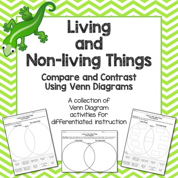 Living vs non living things venn diagram by deanne may tpt living vs non living things venn diagram ccuart Images