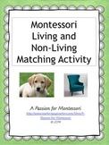 Living vs. Non-living Montessori sorting activity