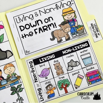 Living vs. Non-living Science Activities Folder