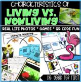 Living vs. Nonliving - Photograph Sort, QR Code Hunt, Grocery Store Theme