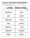 Living vs. Nonliving Science Activity Pack! - Center and 2 Worksheets