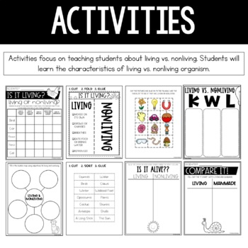 Living vs. Nonliving Interactive Notebook