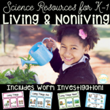 Living vs Nonliving Science Resources, Sorts, and Worm Inv