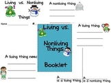 Living vs. Nonliving Things Booklet